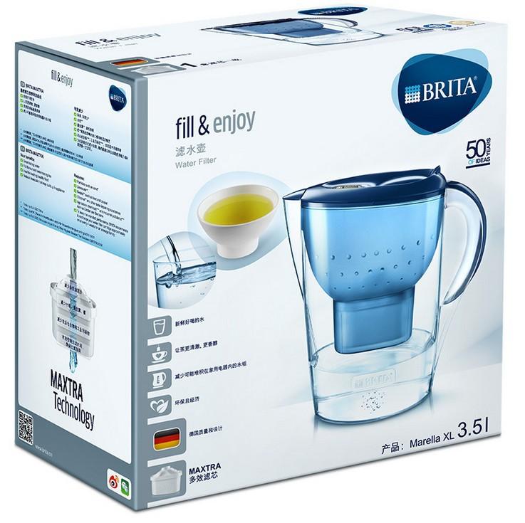 5L厨房净水器过滤芯自来水家用净水壶 BRITA/碧然德