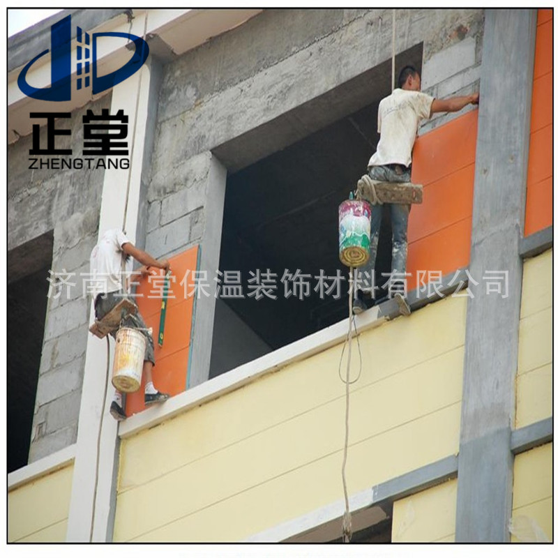 别墅保温板安装 镀铝锌钢板 防火板 保温板 硬质发泡聚氨脂 气泡状 长方形