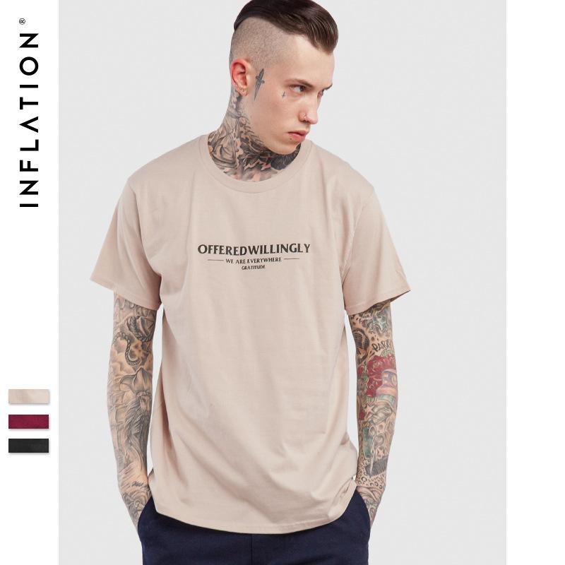 2017新款夏装街头潮牌国旗城市印花男式纯棉圆领T恤短袖
