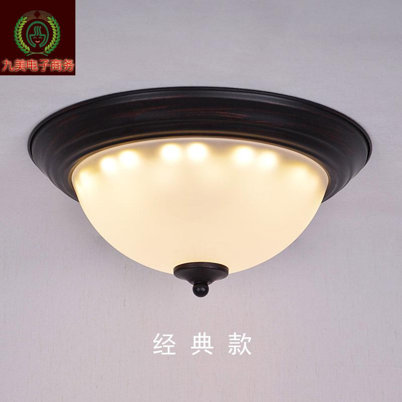 圆形铁艺卧室吸顶灯3011走廊灯阳台吸顶灯 按钮式