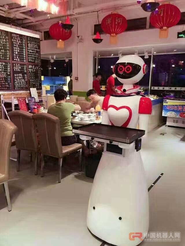 诺比机器人智能餐厅机器人送餐迎宾点餐传菜接待机器人服务员 餐厅设备