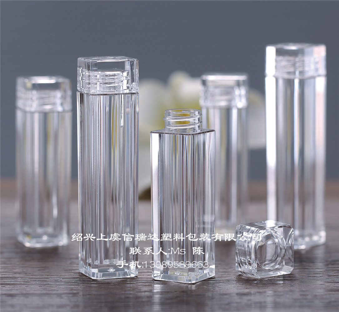 厂家直销8ml试用装小瓶 可定制 PMMA 丝网印刷,UV印刷