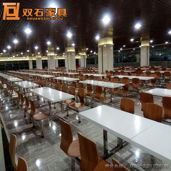 员工食堂餐桌椅厂家零售 简约现代 来图定制