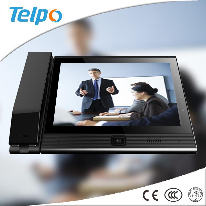 高清触摸10寸彩屏可视网络会议系统设备电话机 Telpo