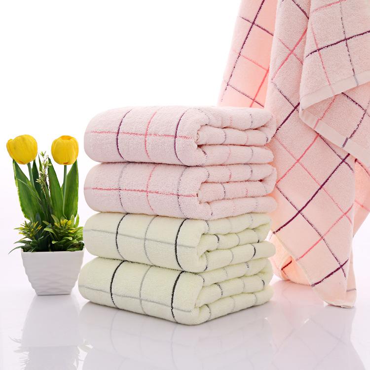 一天纺织加工定制纯棉赛洛纺加大加厚浴巾 天蓝色 黄色,粉色
