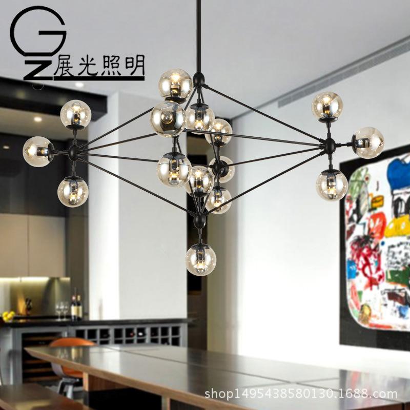 北欧简约灯具现代创意个性客厅餐厅吊灯复古服装店工业风魔豆吊灯