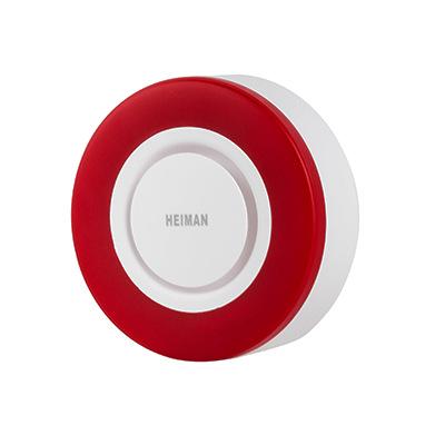 zigbee/z-wave智能声光报警器 AC供电 家庭安防 白色+暗红