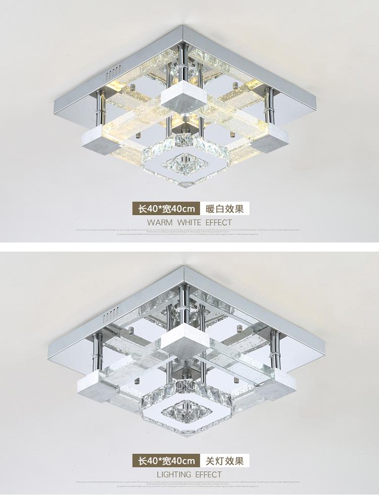 灯具十大品牌水晶气泡柱客厅吸顶灯长方形欧式大气