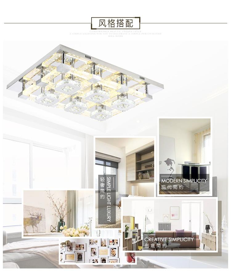 灯具十大品牌水晶气泡柱客厅吸顶灯长方形欧式大气创意灯饰包邮