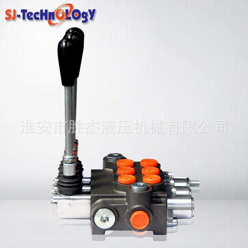 P80保加利亚系列手动控制阀 控制阀 工程机械 多路换向阀液压阀 直通式
