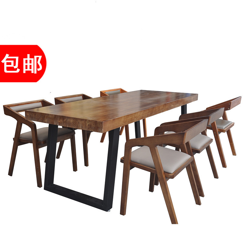 美式乡村复古实木餐桌 美式乡村 来图定制 宇润枫 规格定制 新西兰松木