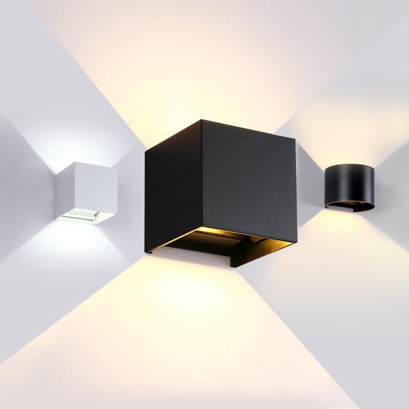 LED壁灯户外防水室外墙壁灯铝材壁灯床头过道方形酒店调光工程灯