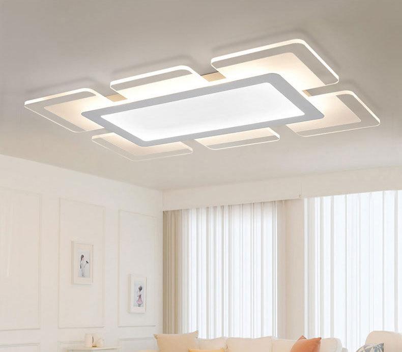 简约现代大气创意长方形卧室灯室内灯具 现代简约 亚克力图片