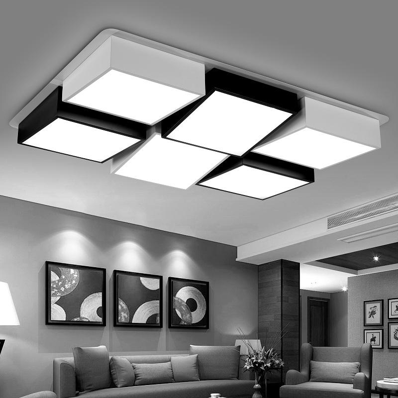 led吸顶灯古代简洁长方形客厅灯卧室灯艺术创意时髦共性灯具灯饰