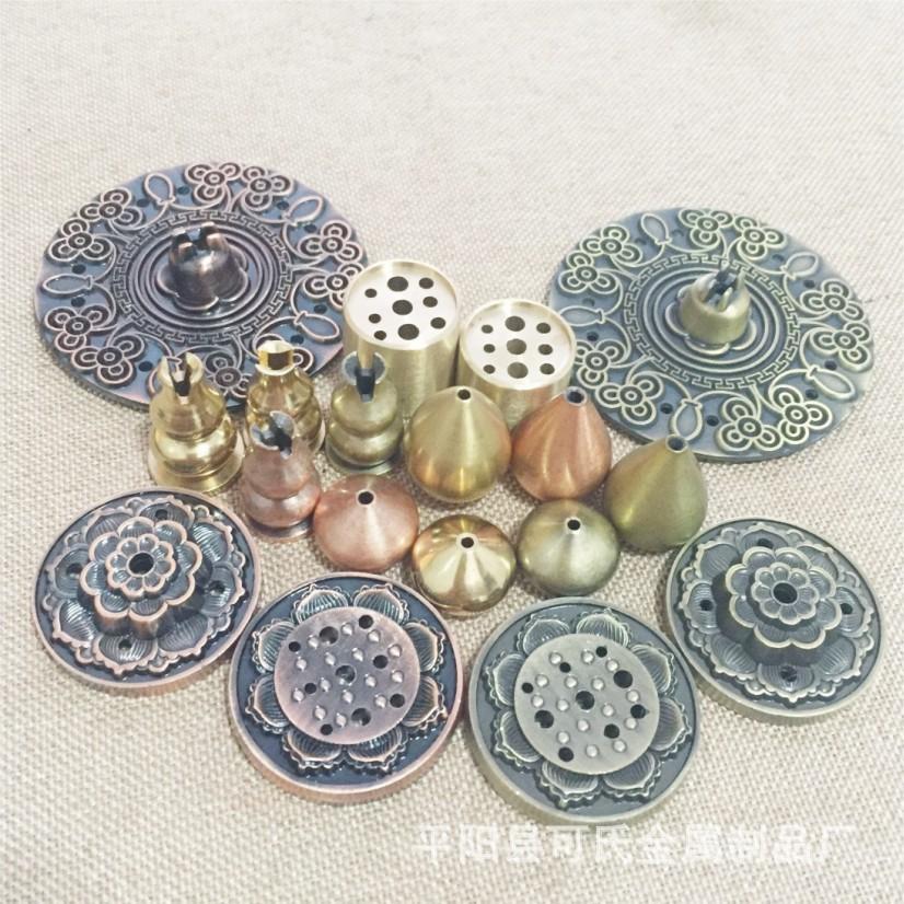 纯铜葫芦香插香道用具香插批发 楼阁亭榭 办公场所