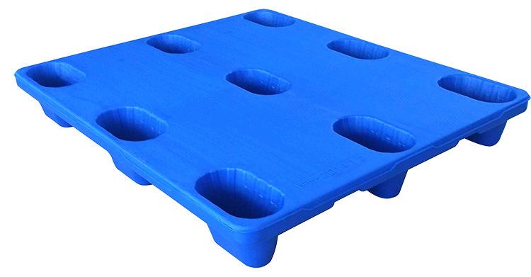 中空吹塑平板九脚托盘(仓储托盘) 平板九脚 高分子塑料