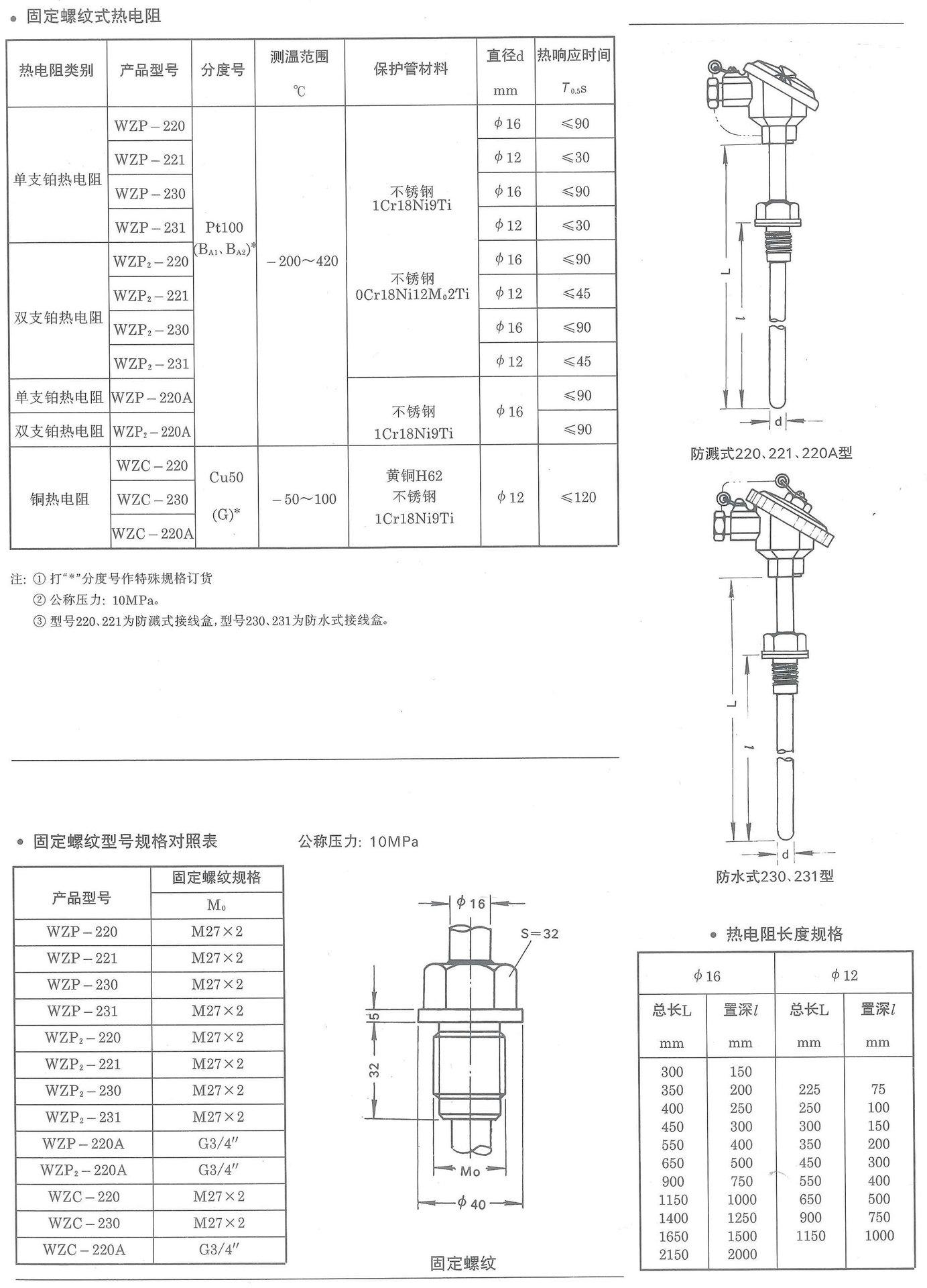 是 品牌 兴贵 类型 热电阻 型号 wzp-230pt100 分度号 pt100 测量范围