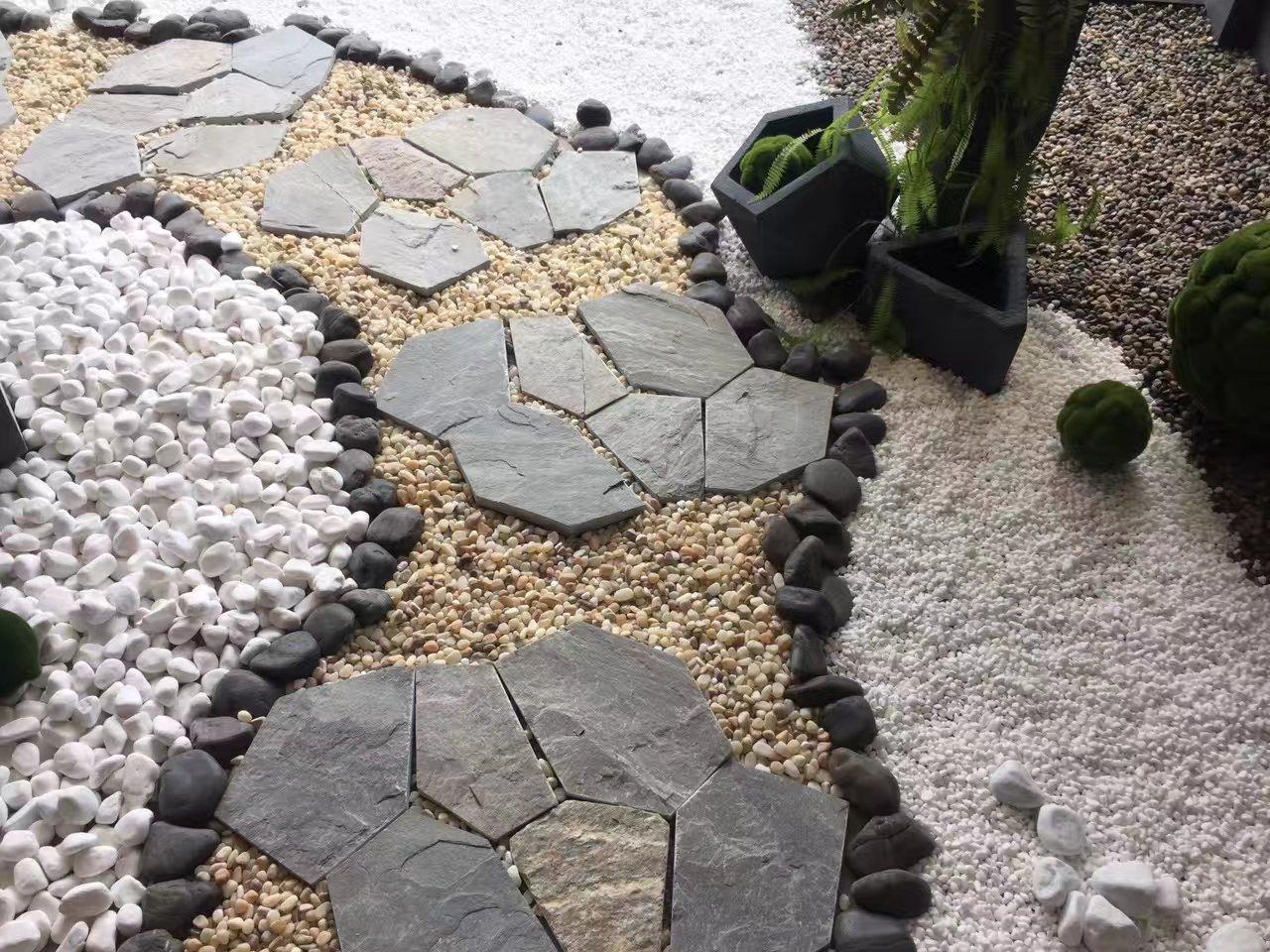文明石青石板多边形网贴冰裂纹自然防滑户外小院子庭院地砖花园别