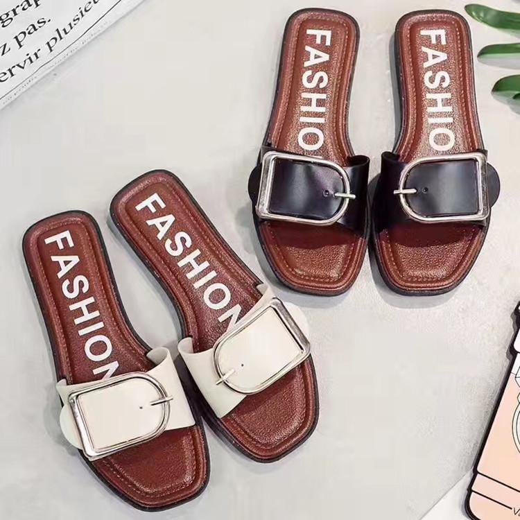 2017爆款欧美新品时尚户外潮流拖鞋女夏室内外软底厚底防滑一字拖