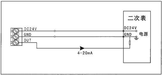 气体探测器接线图(毒性气体)(二线制)