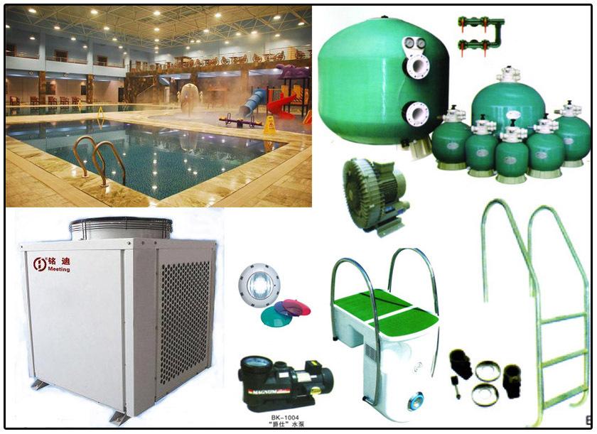 游泳池水处理设备 游泳池设备缸 游泳池设备缸厂家 灰色,