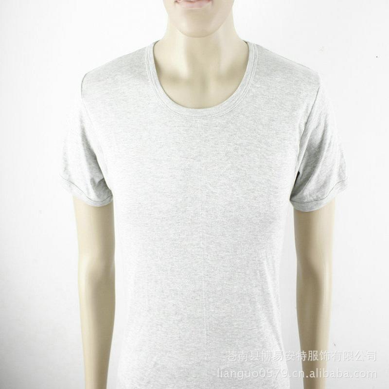男士圆领短袖广告T恤衫 可帖牌加工 普通工装 吸湿排汗