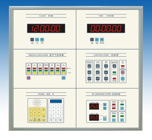 中央空调自控系统 手术室净化控制 四联手术室情报面板 冷板喷涂底箱