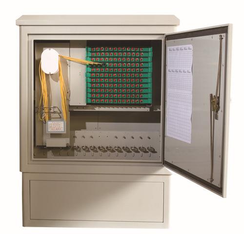 厂家供应576芯光缆交接箱 光缆传输设备 不锈钢板、铁板